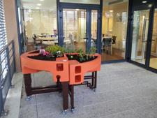 jardin ergonomique installé dans l'EHPAD J-Mermoz du CH Péronne