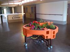 jardin ergonomique aux résidences de Bellevue