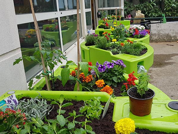 jardin thérapeutique à la Résidence Korian Villa Victoria au printemps 2019
