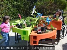 jardin adapte IME Espoir DR lions club besancon cite