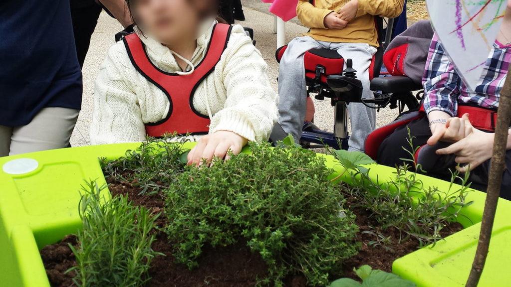 jardin thérapeutique IME d'Espoir à Besançon