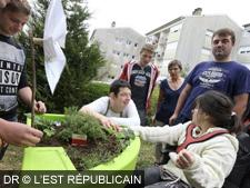 Inauguration du jardin thérapeutique à l'IME L'Espoir (Besançon)