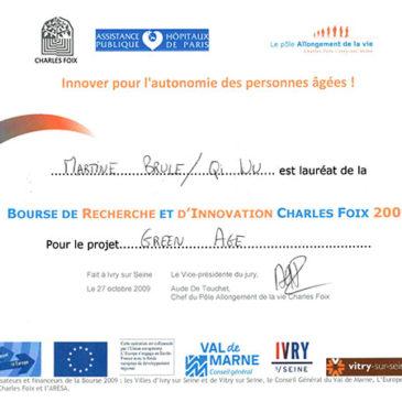 Lauréat de la Bourse Charles-Foix il y a 4 ans (2009)
