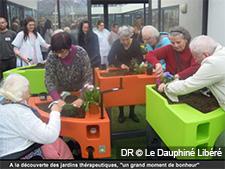 Rotary Club Annecy Rive Gauche soutient le projet jardin thérapeutique de l'Ehpad Les Parousses (Annecy).