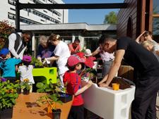 atelier de jardinage intergénérationnel H. Duputren 2018