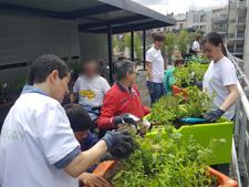 Cityzen's Day journée de jardinage avec les bénévoles de L'Oréal à la MAS St jean de Malte paris 2016