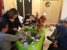 atelier de déco Noël jardinothérapie MAS St Jean de Malte 2015