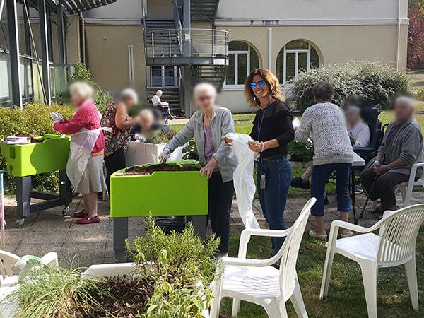 démarrage de l'atelier de jardinage à l'hôpital georges clemenceau automne 2018