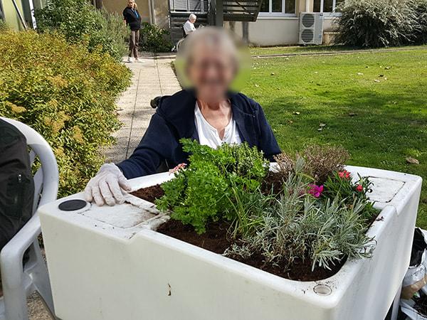 jardinage d'automne à l'hôpital Georges Clemenceau 2018