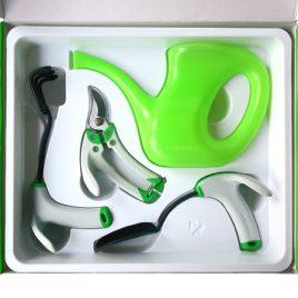 ensemble outils de jardinage ergonomiques