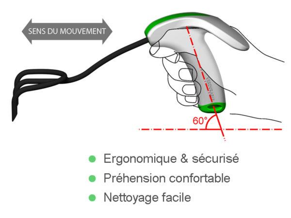 griffe prise en main ergonomique