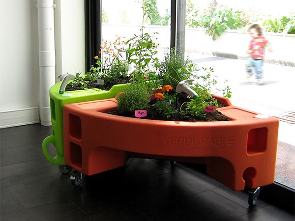 jardin placé à l'intérieur Hortense Mini potager adapté aux petits enfants