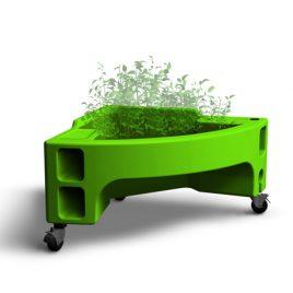 jardinière verte Hortense mini option crèche jardin pédagigique verdurable
