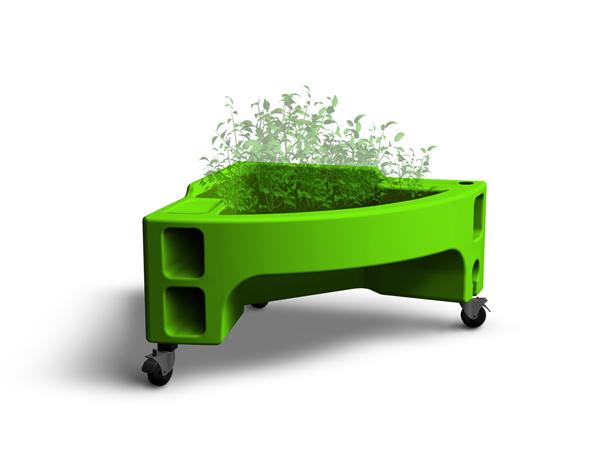 jardinière verte Hortense mini option crèche jardin pédagigique potager enfant