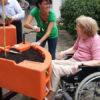 manivelle règle la hauteur de la jardinière Hortense Confort