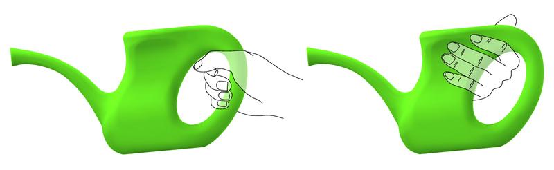 mise en main ergonomique arrosoir verdurable