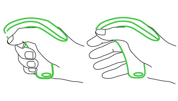 schema adaptation sur la main