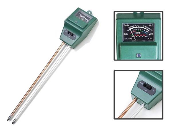 testeur 3 en 1 luminosité humidité et pH