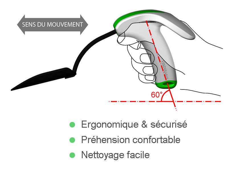 transplantoir prise en main ergonomique