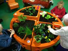 jardiner au jour du printemps EHPAD du Grand Jardin