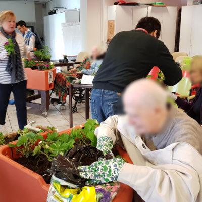 atelier plantation printemps hôpital Broca 2018