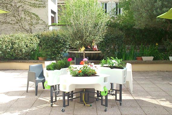 jardin adapté dans la résidence Korian Perier