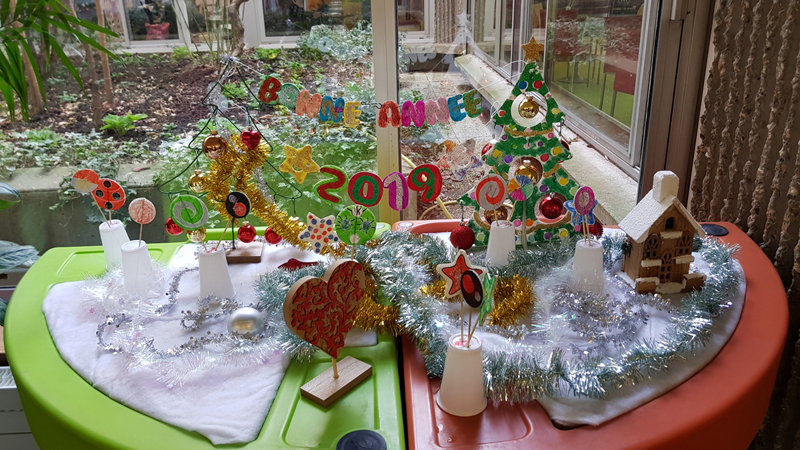 hopital broca installe son jardin noël 2018