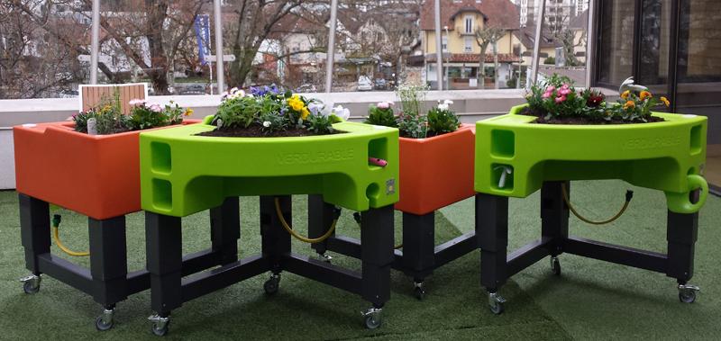 jardin ergonomique à la résidence Les Parouses