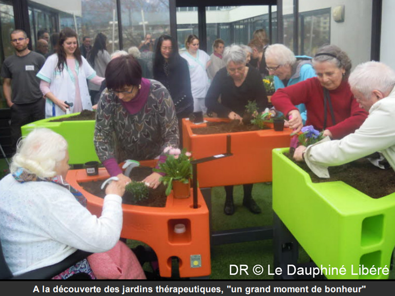 les anciens ont reçu leurs jardins - DR le dauphine libéré -Verdurable