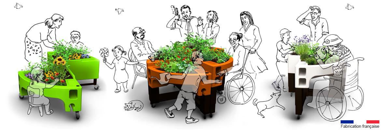 Verdurable jardin ergonomique adapté pour enfant, personne âgée et personne handicapée