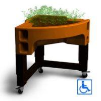 hortense confort jardinière sur pied mobile hauteur réglable pour PMR