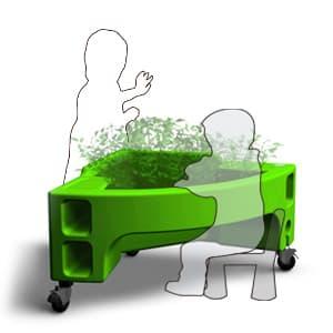 jardinière sur pied adaptée aux enfants