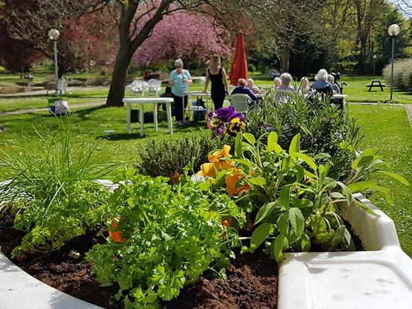 jardin adapté et convivial à l'hôpital G. Clemenceau