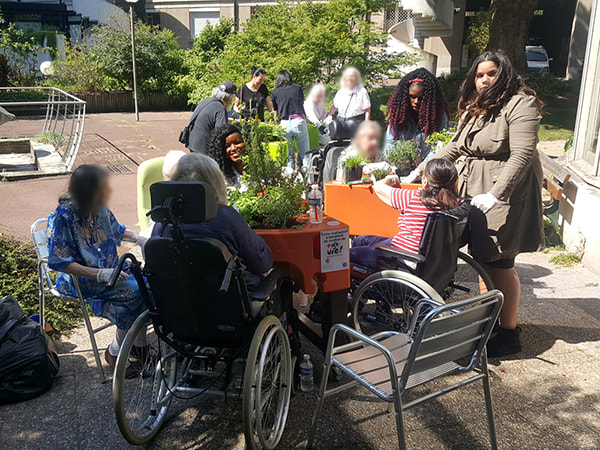 Jardin adapté à l'hôpital La Collégiale (75)