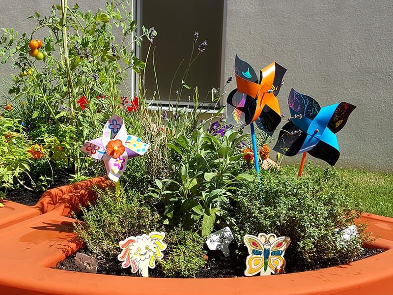 décoration au jardin d'été Verdurable