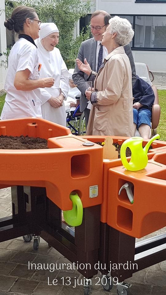 inauguration du jardin sensoriel aux petites soeurs des pauvres de Versailles