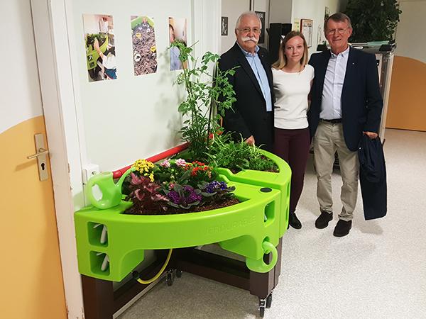 inauguration du jardin d'hortitherapie à l'USP du CH Hayange