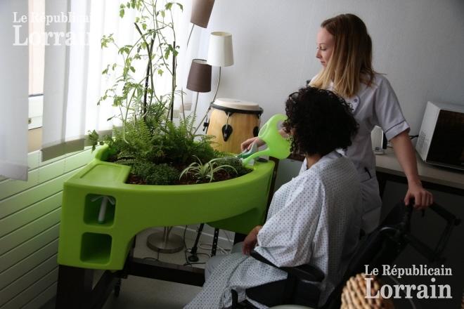 unité de soins palliatifs dispose de quatre bacs de jardinage mobiles