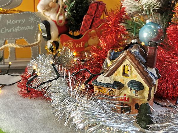 décorations de Noël à la crèche