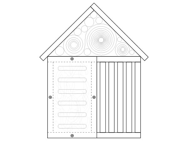 gîte à insectes DIY étape-3 garnir chambres