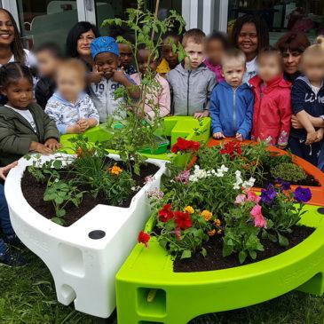 Les bienfaits du jardin pédagogique de la crèche Pollux