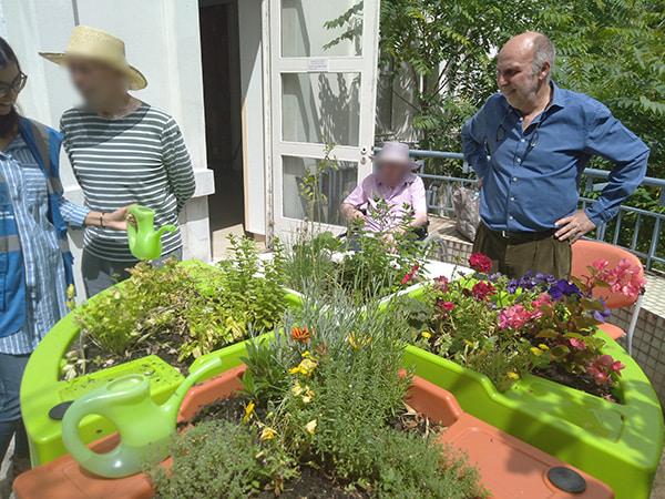 Atelier de jardinage avec Didier