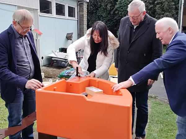 réception des jardinières par Rotary Club Fléron en 2019