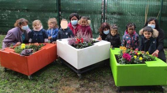 Pendant les confinements, le jardin pédagogique de la crèche Pollux persévère