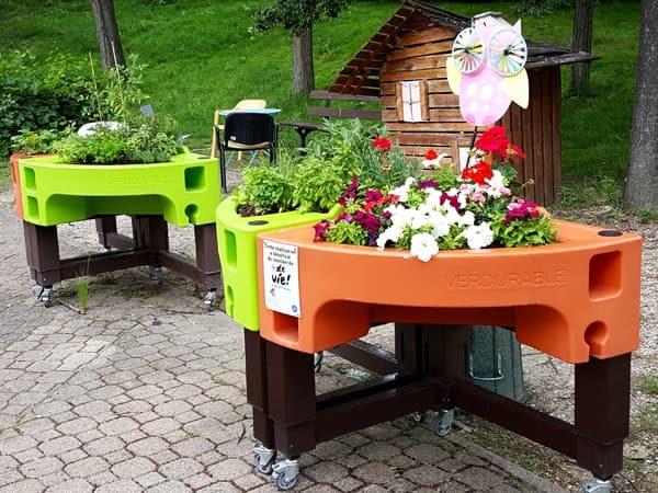 jardin sensoriel à l'hôpital Broca
