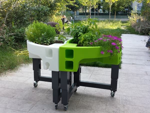 jardin thérapeutique à l'ehpad Berlioz