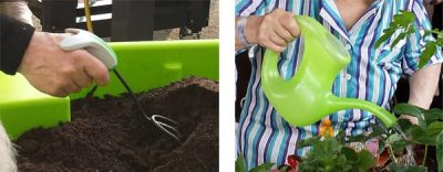 outils de jardinage ergonomiques avec préhension confortable