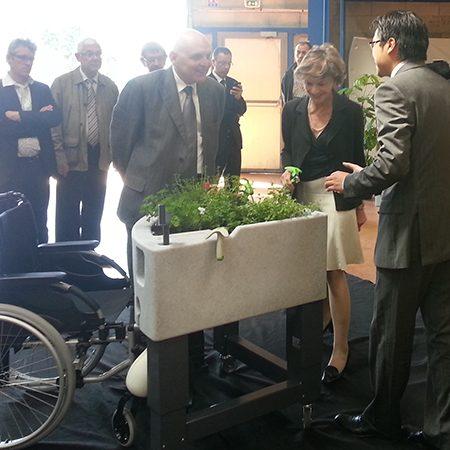 Mme Michèle Delaunay visite la production Verdurable